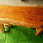 ケヤキダイニングテーブル(ウレタンつや消し塗装済み)